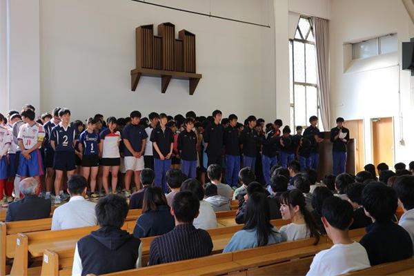宮城県高校総体壮行会を行いました