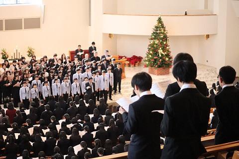 クリスマス礼拝を捧げました